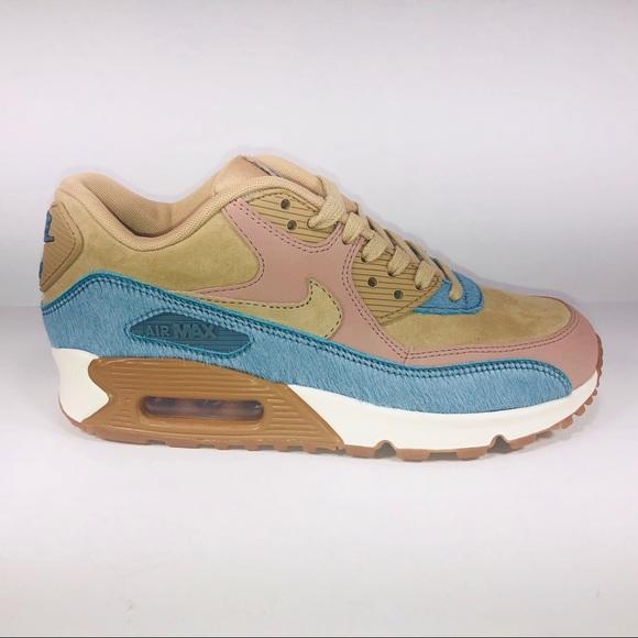 Womens Nike Air Max 90 LX Mushroom Multicolor Shoe NWT